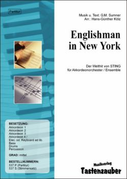 Englishman in New York / Partitur