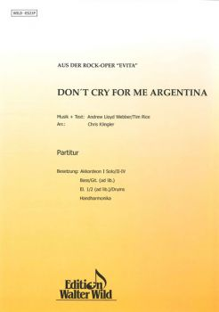 Don't cry for me Argentina / Partitur